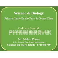 A/L Biology Science and O/L Science (grade 7-11) C